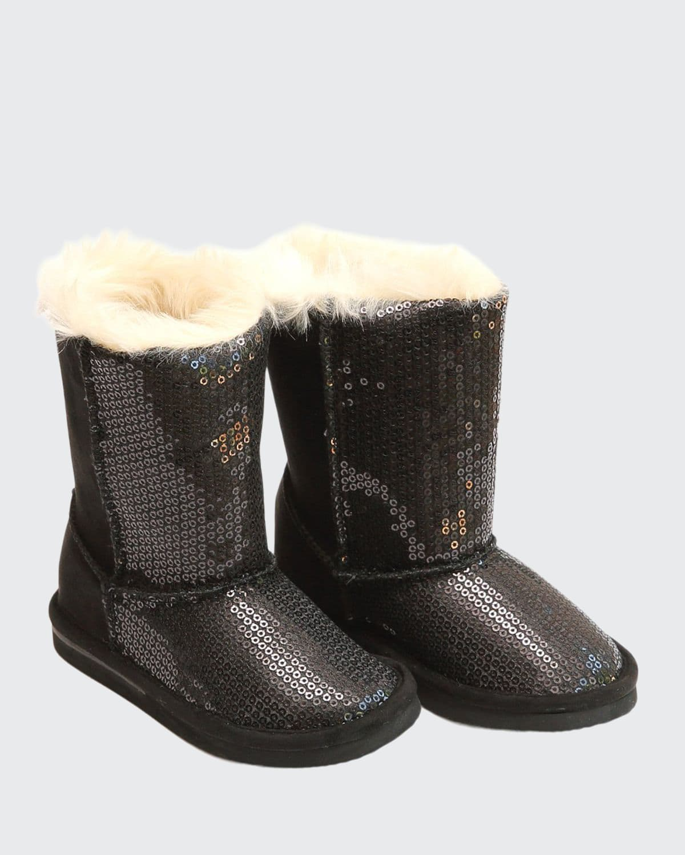 Carol Sequin Boots w/ Faux-Fur Lining