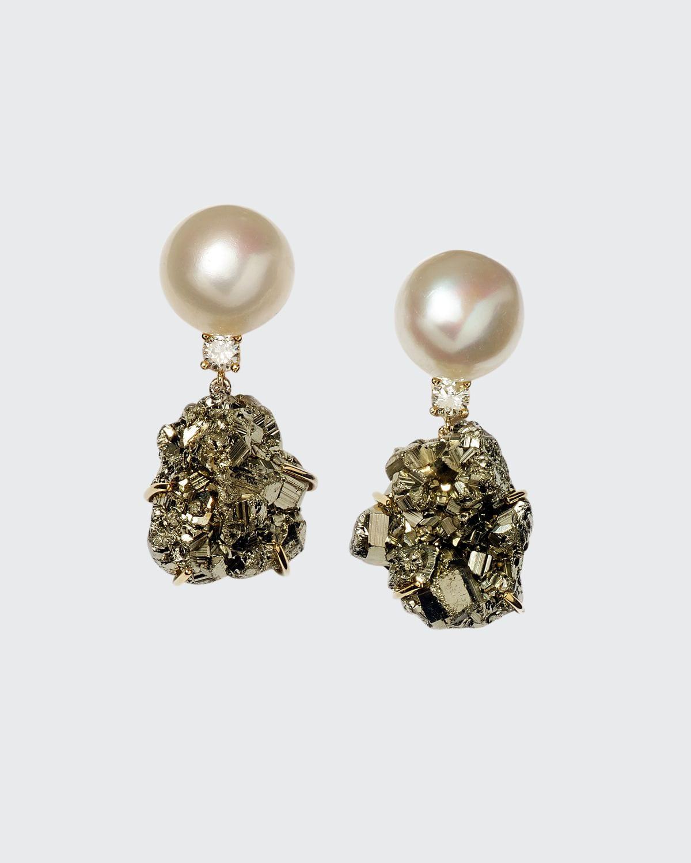 18k Bespoke One-of-a-Kind Luxury 2-Tier Earring with Pearl