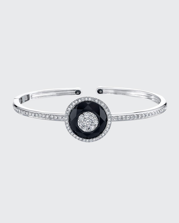 18k White Gold Black Onyx Bracelet