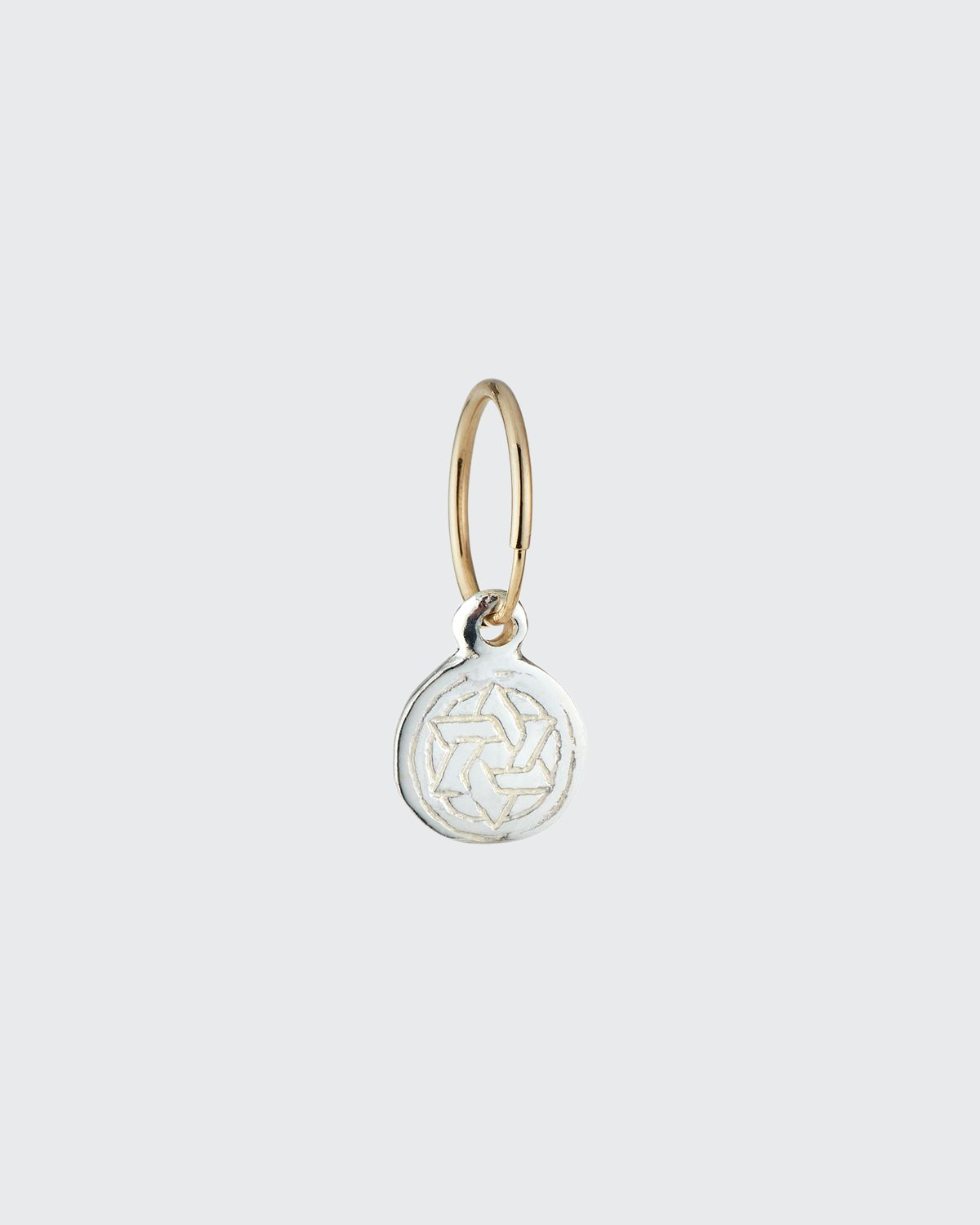 Small Star of David Coin Drop Earring