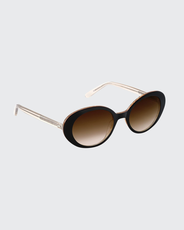 Laurel Oval Gradient Sunglasses