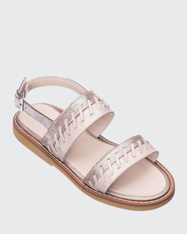 Girls' Larissa Stitched Leather Sandals