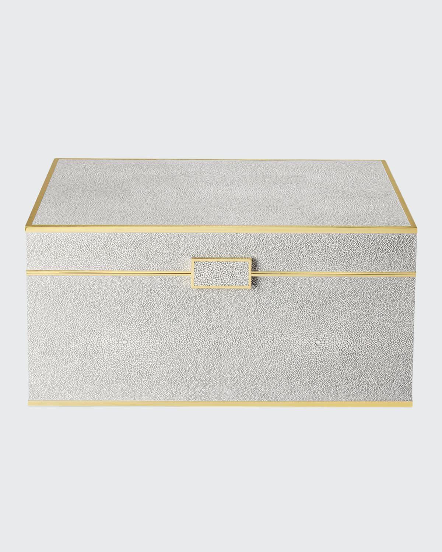 Luxe Shagreen Jewelry Box