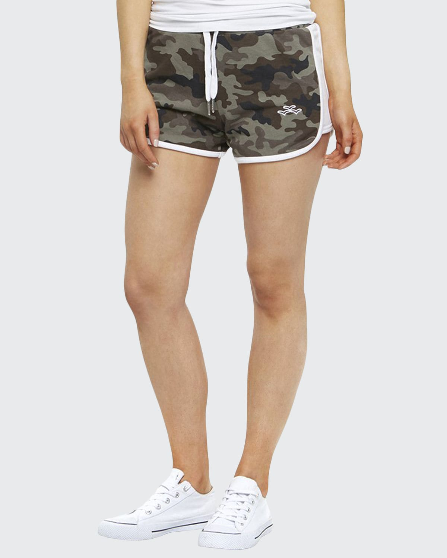 Jackie Camo-Print Drawstring Shorts