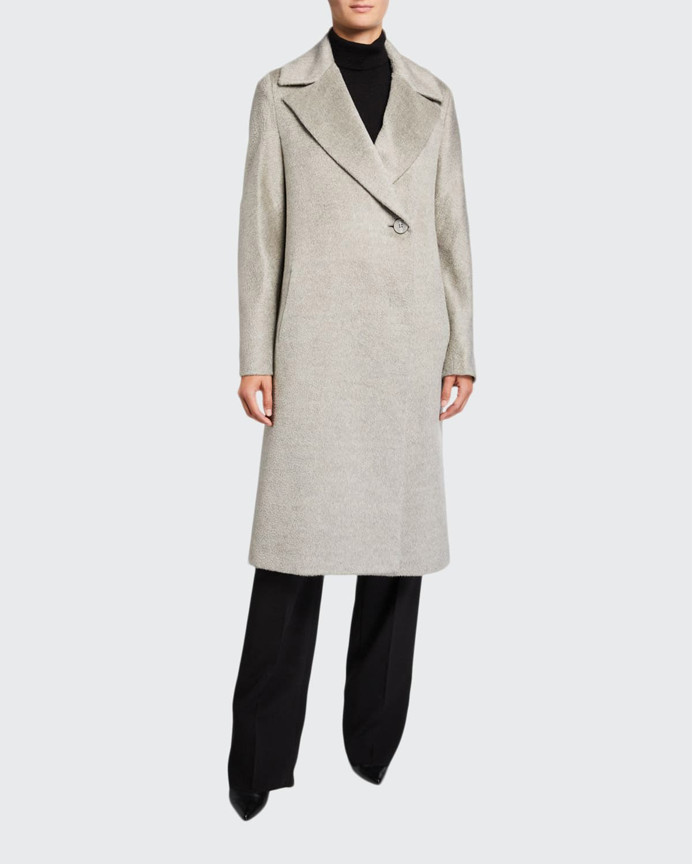 Long Asymmetric-Button Coat