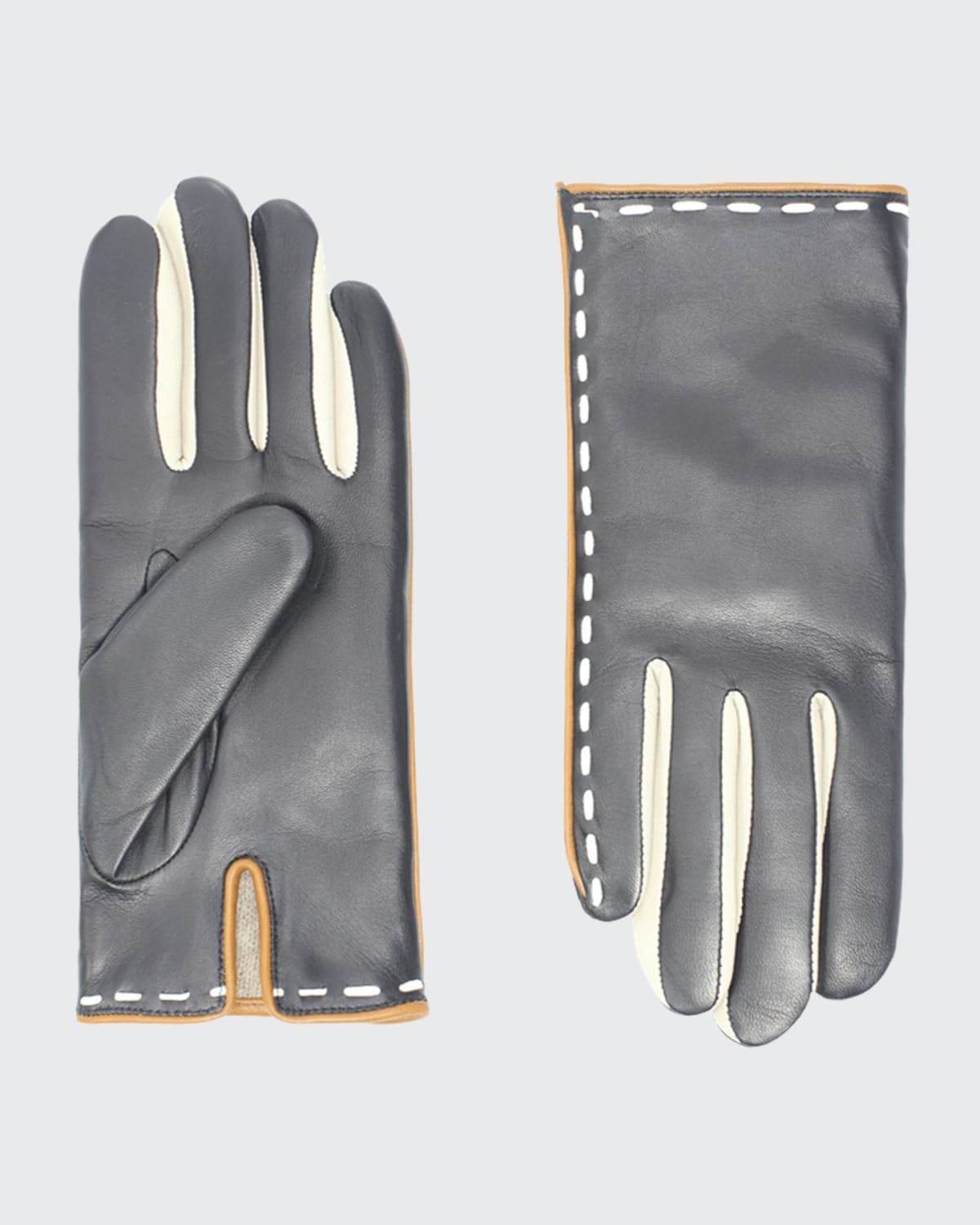Leather Gloves Top Stitching