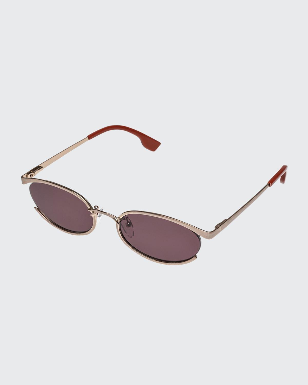 Tres Solo Oval Sunglasses