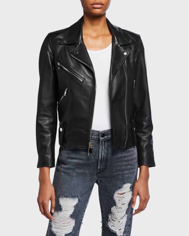 Dani Lamb Leather Moto Jacket