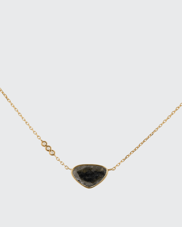 14k Yellow Gold Diamond Slice on Chain Necklace