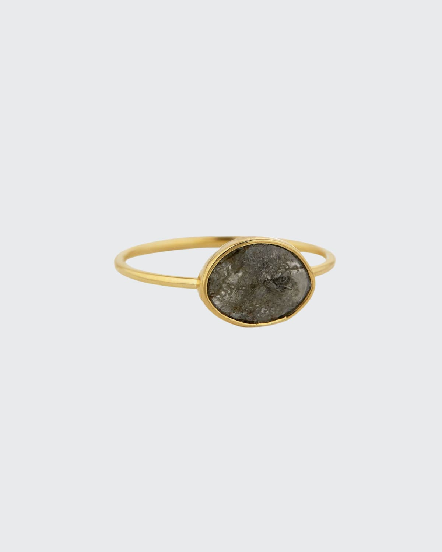 14k Rose Gold Diamond Slice Ring