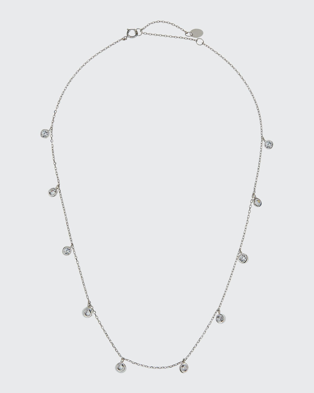 Kid Girl's Cubic Zirconia Drop Sterling Necklace