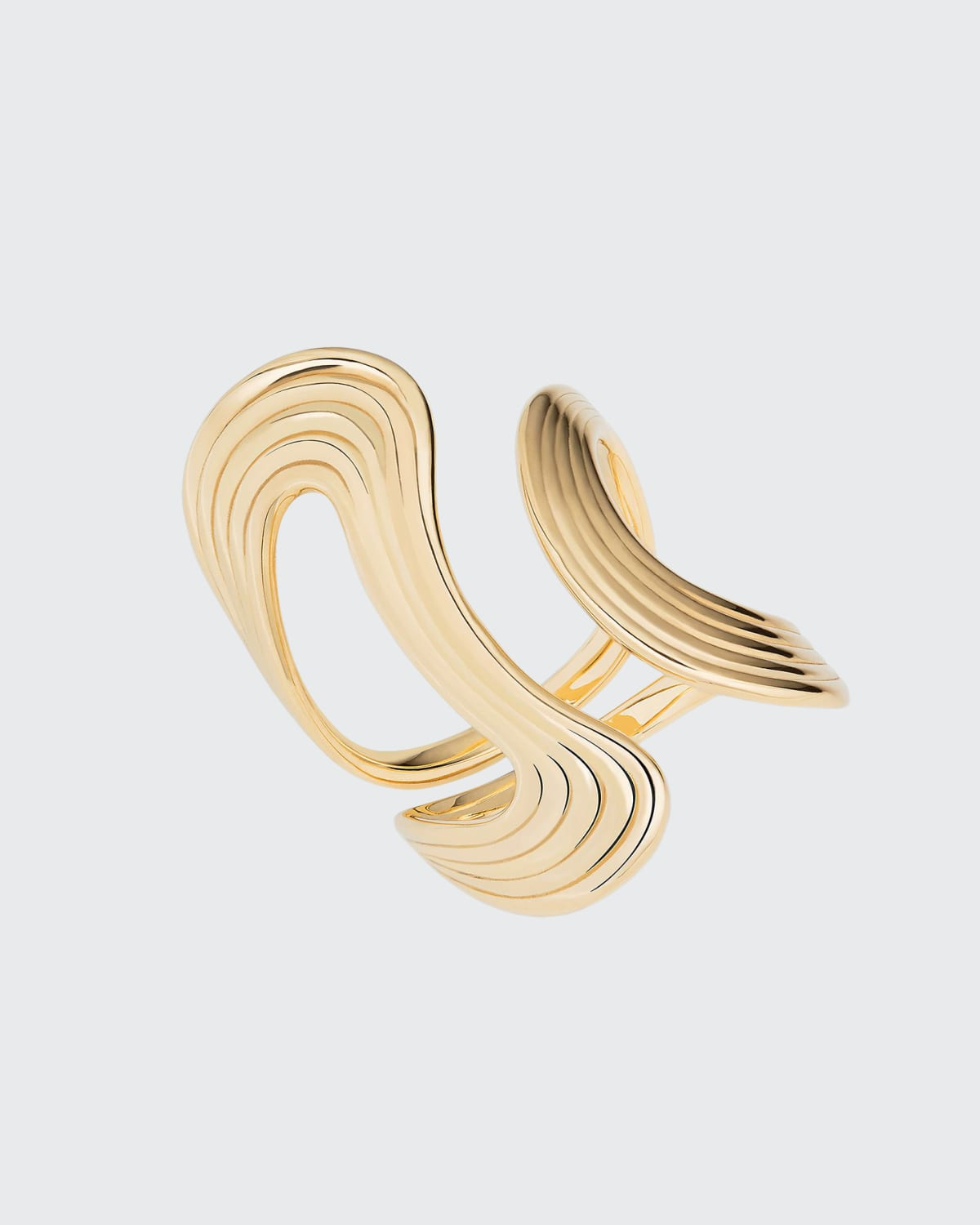 Stream Lines Ring in 18k Yellow Gold
