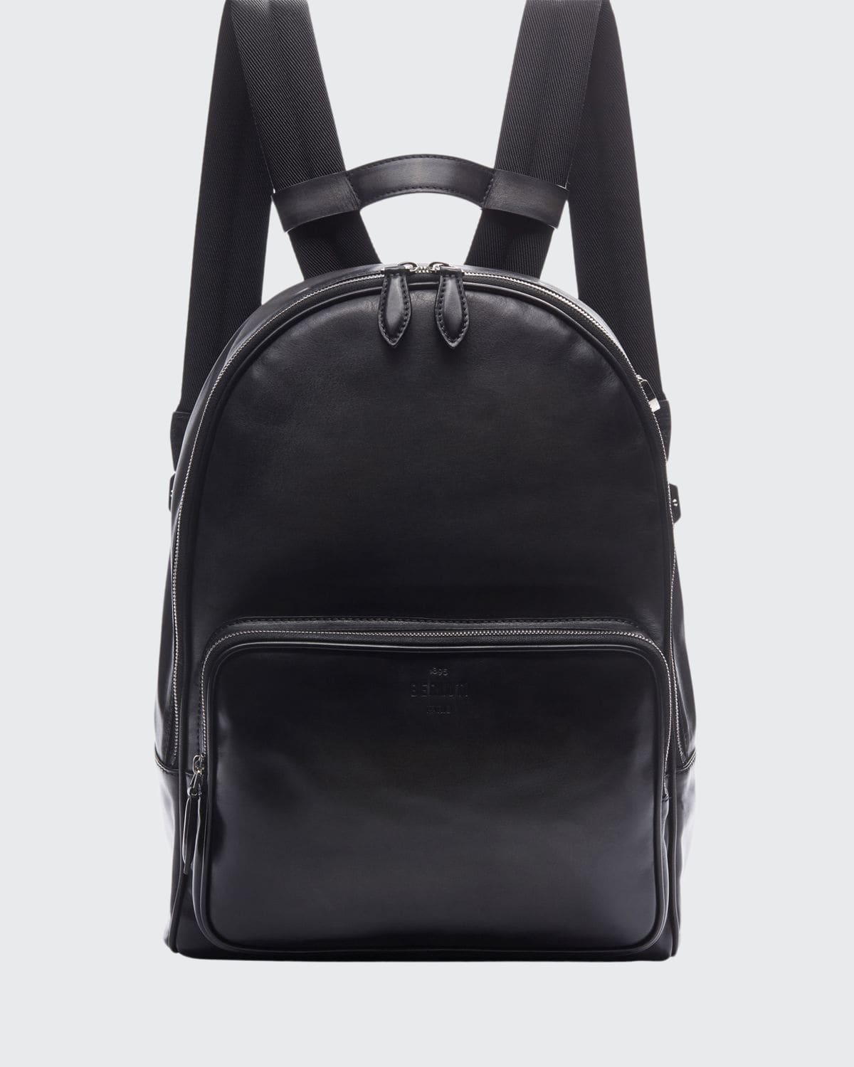 Men's Time off Venezia Solid Leather Backpack