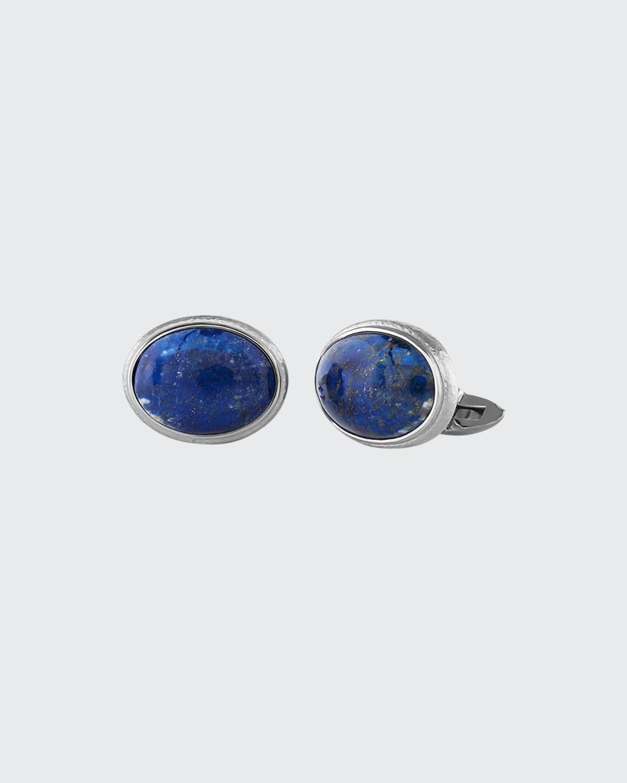 Men's Lapis Lazuli & 18k White gold Cufflinks