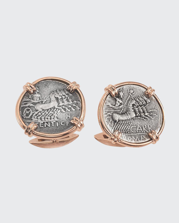 Men's 18K Rose Gold Ancient Jupiter Coin Cufflinks