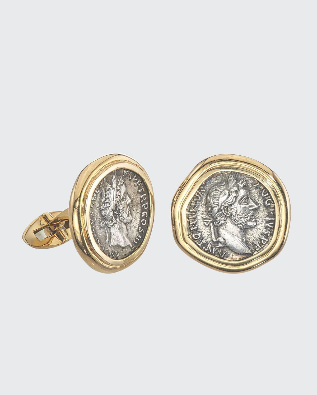 Men's 18K Gold Ancient Coin Cufflinks