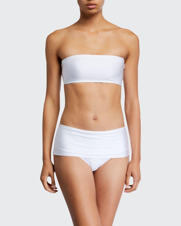 Solid Bandeau Bikini Top