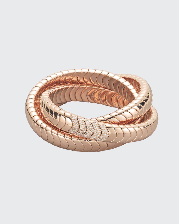 Universo Rose Gold Diamond Stretch Bracelet
