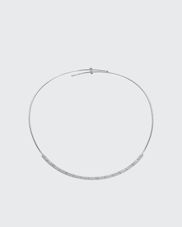 White Gold Titanium Partial Diamond Collar 2.2 TCW