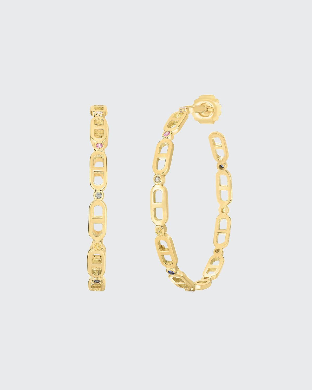 Cheval 18k Gold Hoop Earrings