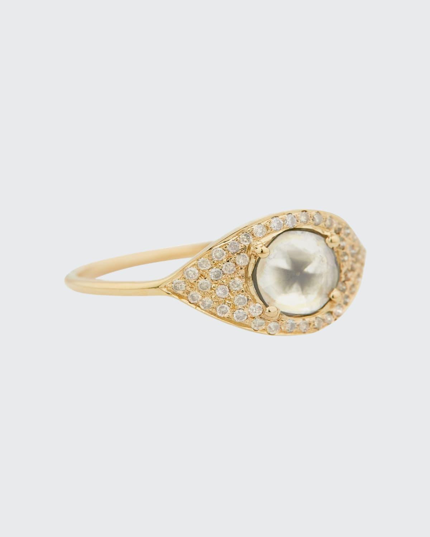 14k Yellow Gold Diamond Full Eye Ring