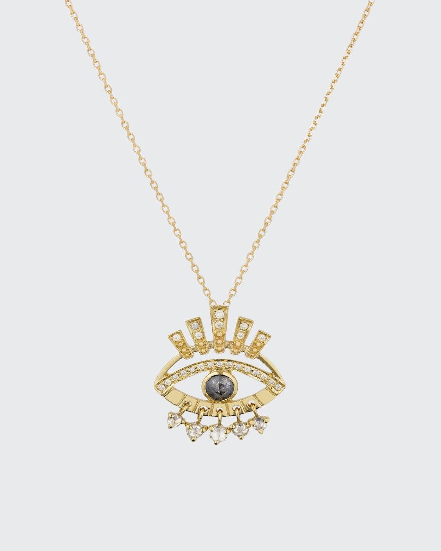 Protection Eye Diamond Necklace