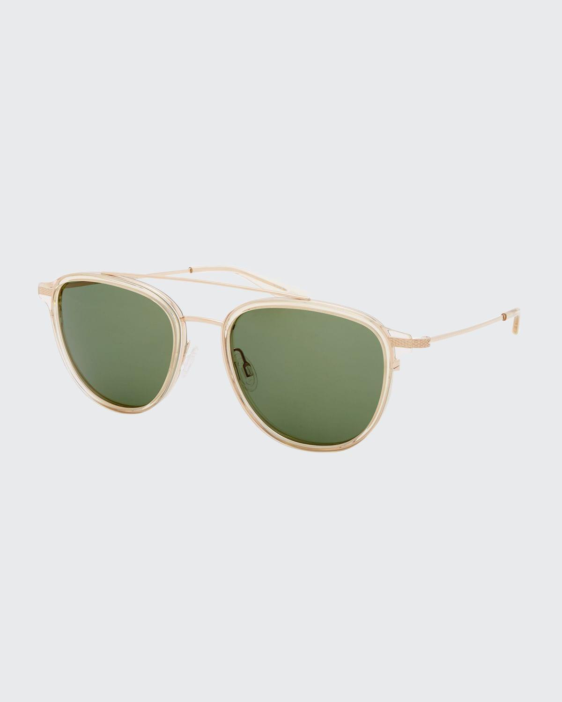 Men's Courtier Titanium Aviator Sunglasses