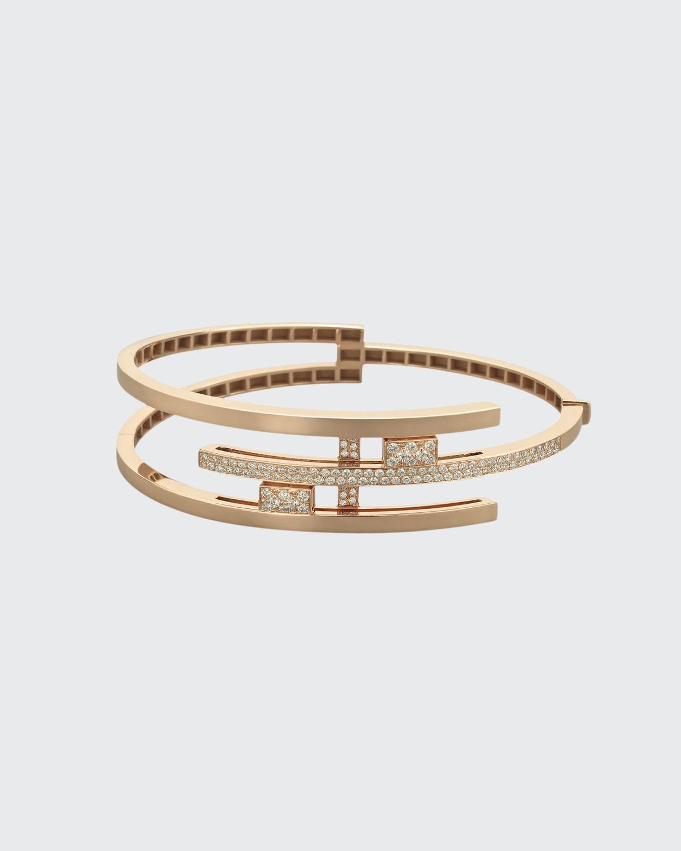 Rose Gold Layer Bracelet .99 ct. Diamond