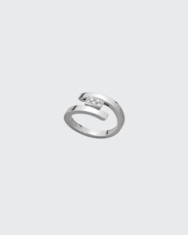 White Gold Swirl Diamond .99 Ct. Ring
