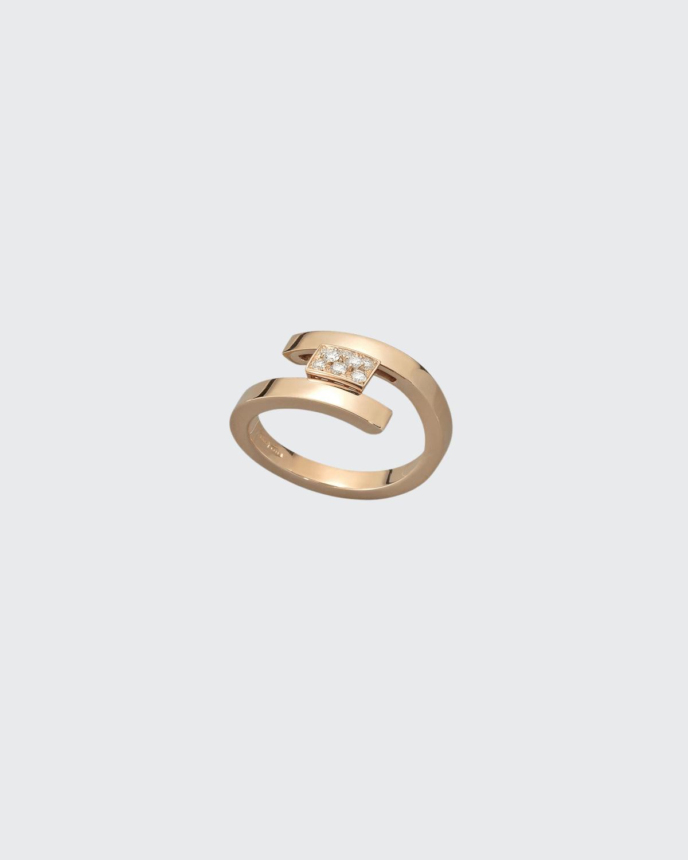 Rose Gold Swirl Diamond .15 Ct. Ring
