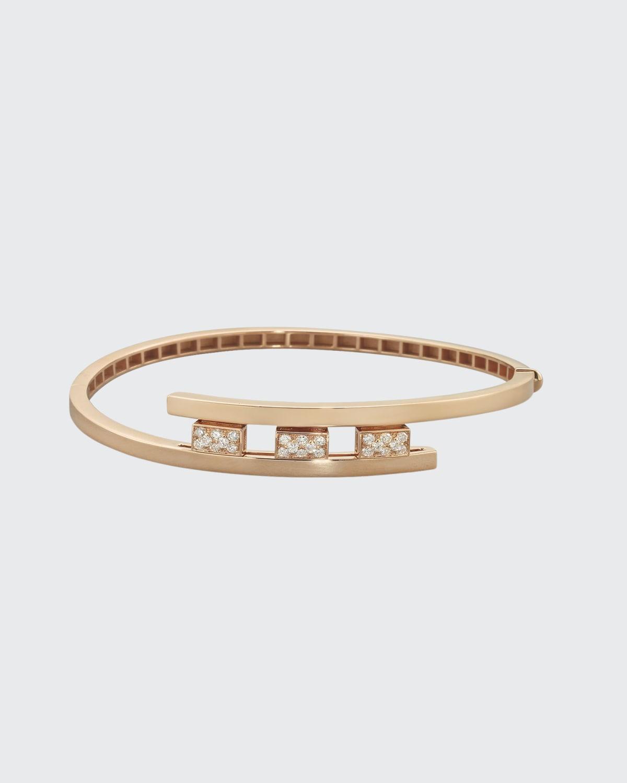 Rose Gold Swirl Bracelet .44 ct. Diamond