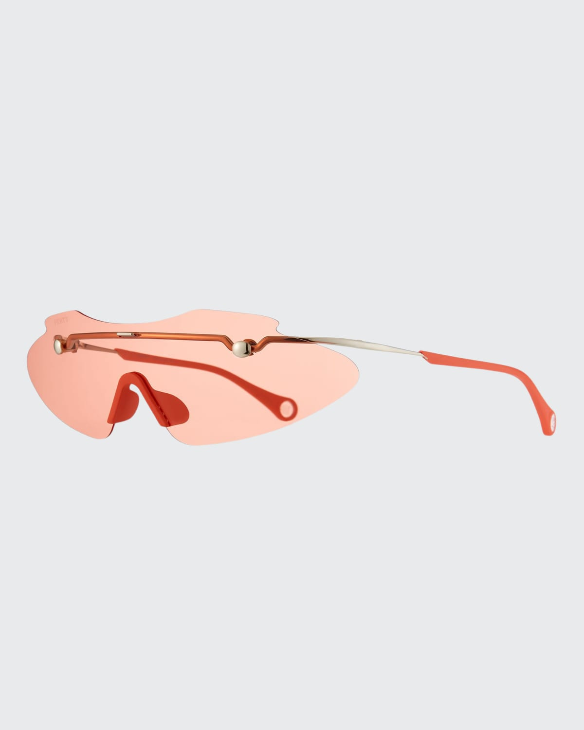 Extended Brow Bar Rimless Shield Sunglasses