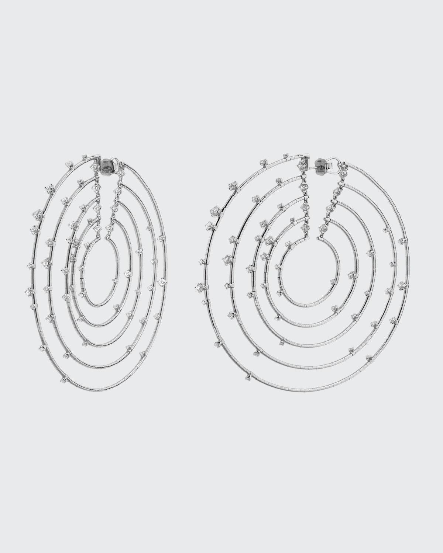 Rugiada 18k White Gold/Titanium 5-Loop Hoop Earrings