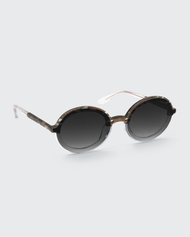 Louisa Nylon Round Sunglasses
