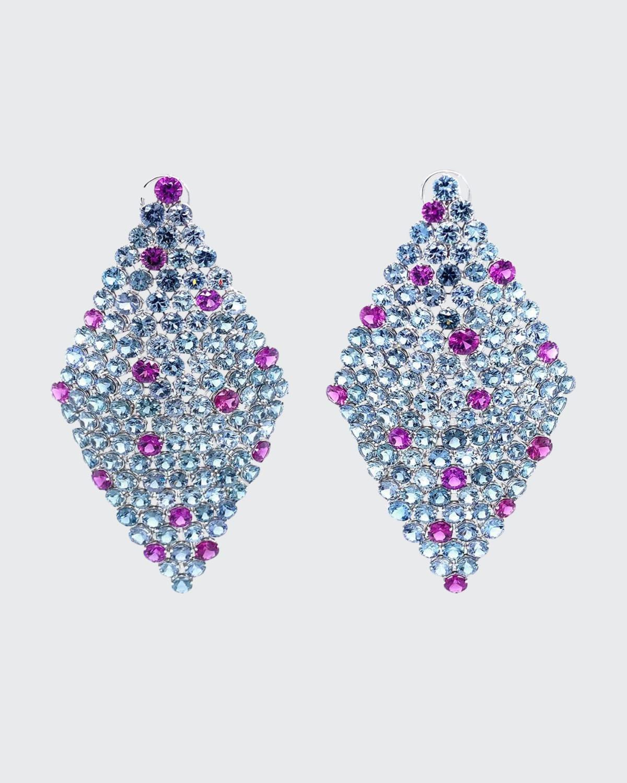 Round Gray Spinels and Rhodolite Garnet Earrings