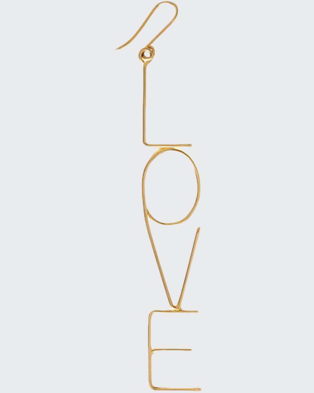 18k Big Love Drop Earring