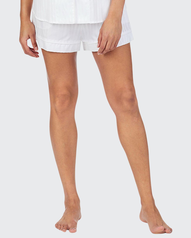 3D Stripe Cotton Shorty Pajama Set