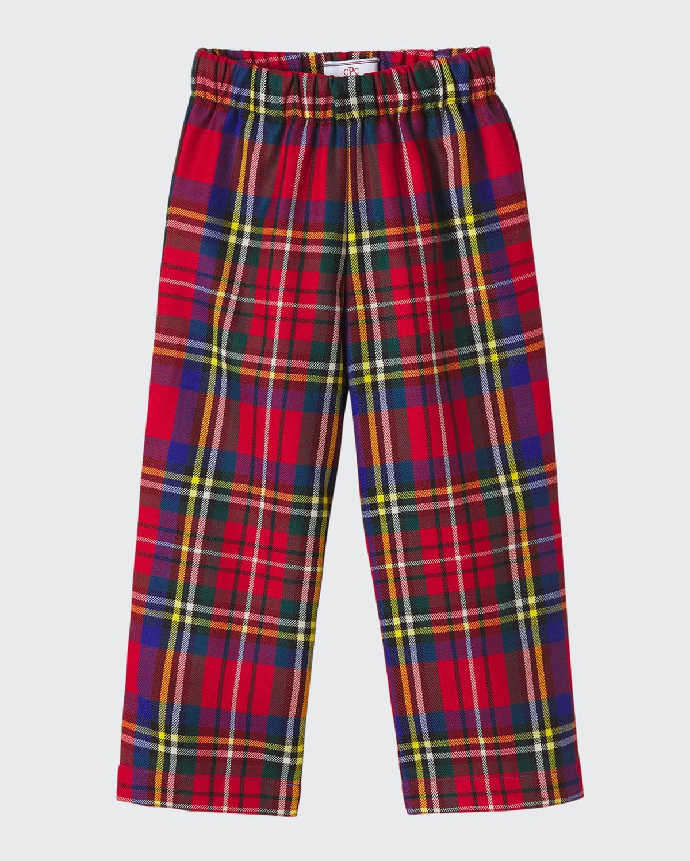 Boy's Myles Drysdale Tartan Slim Pants
