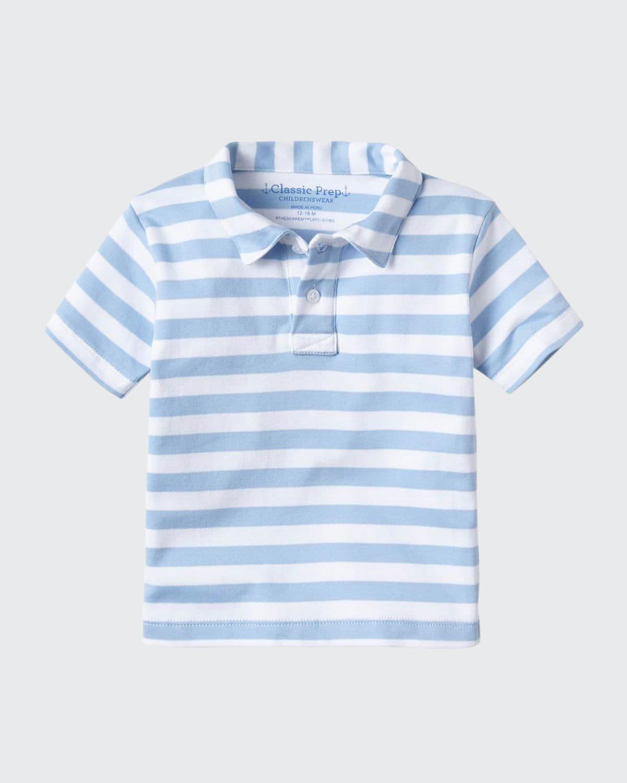 Boy's Henry Striped Short-Sleeve Polo Shirt