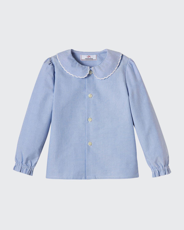 Girl's Westy Peter Pan Collar Button-Down Shirt