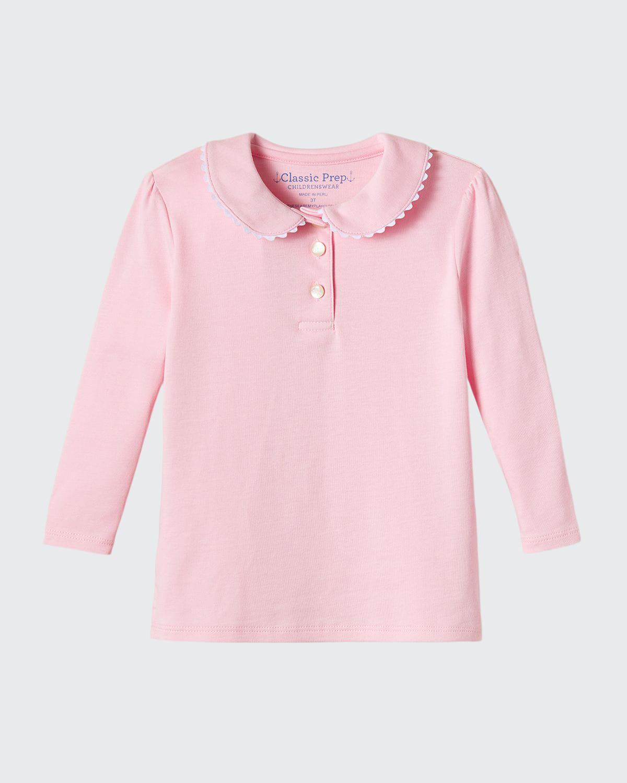 Girl's Sarah Scalloped Polo Shirt