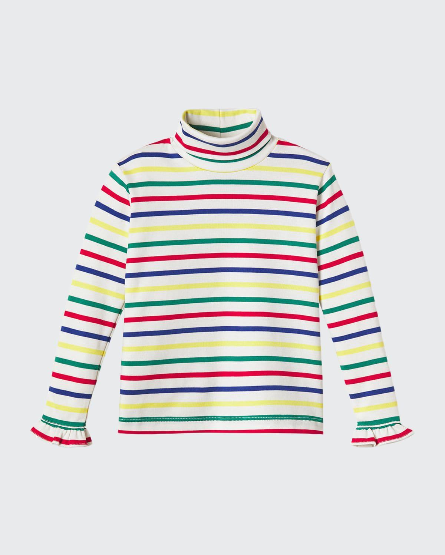Girl's Eloise Multicolor Striped Turtleneck