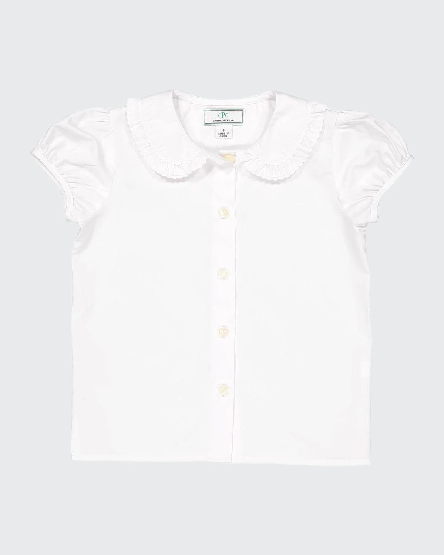 Girl's Chloe Ruffle Button-Down Shirt