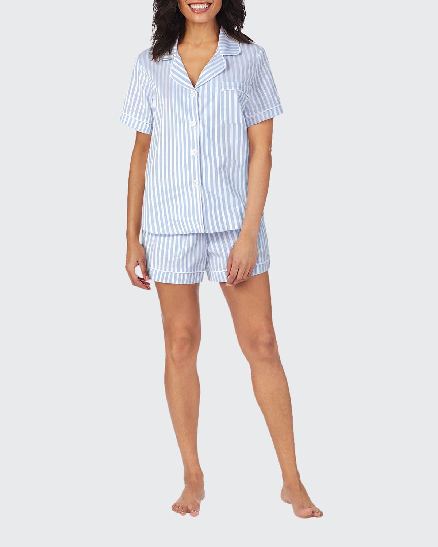 3D Striped Cotton Shorty Pajama Set