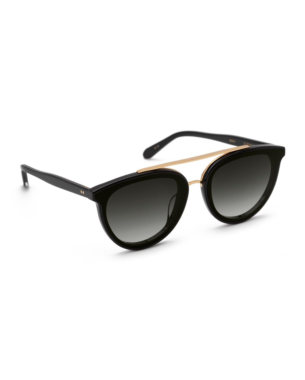 Clio Round Acetate Sunglasses