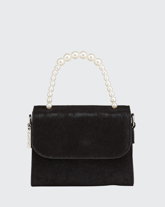 Girl's Glitter Faux-Pearl Top-Handle Bag