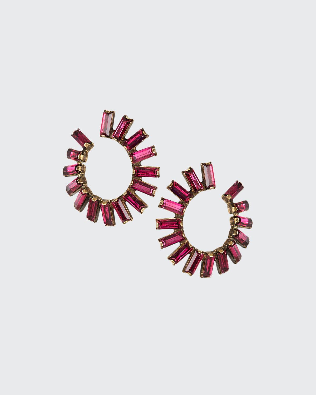 Stella Forward-Facing Hoop Earrings