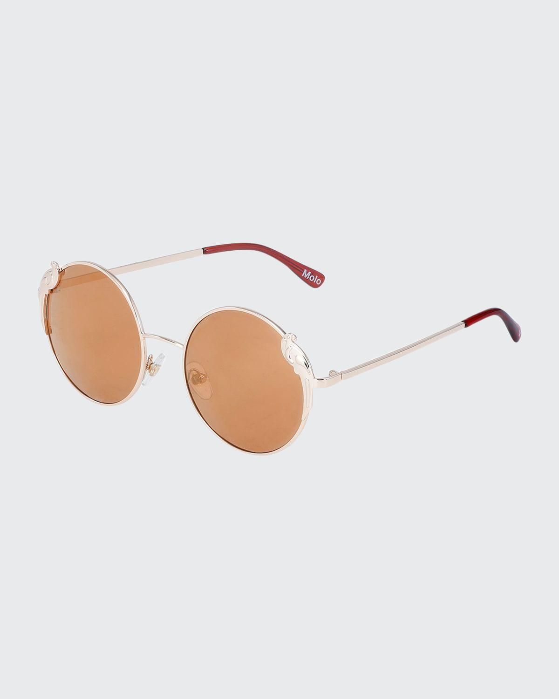 Girl's Summertime Parrot Round Sunglasses