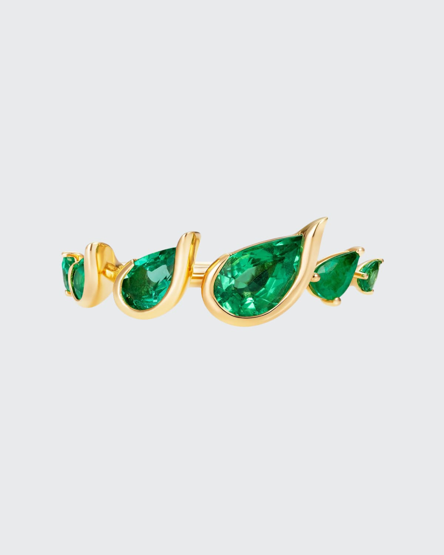 Flicker Emerald Ring in 18K Yellow Gold