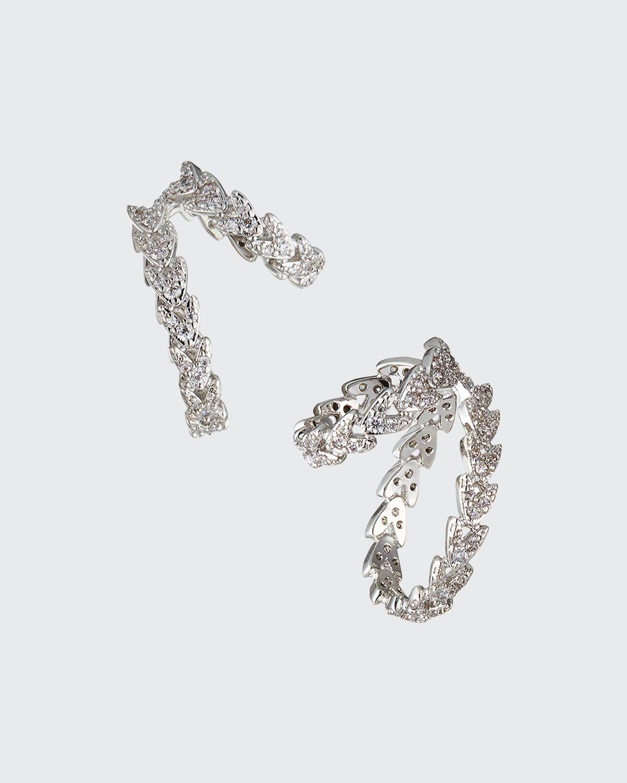 Pave Laurel Ear Cuffs